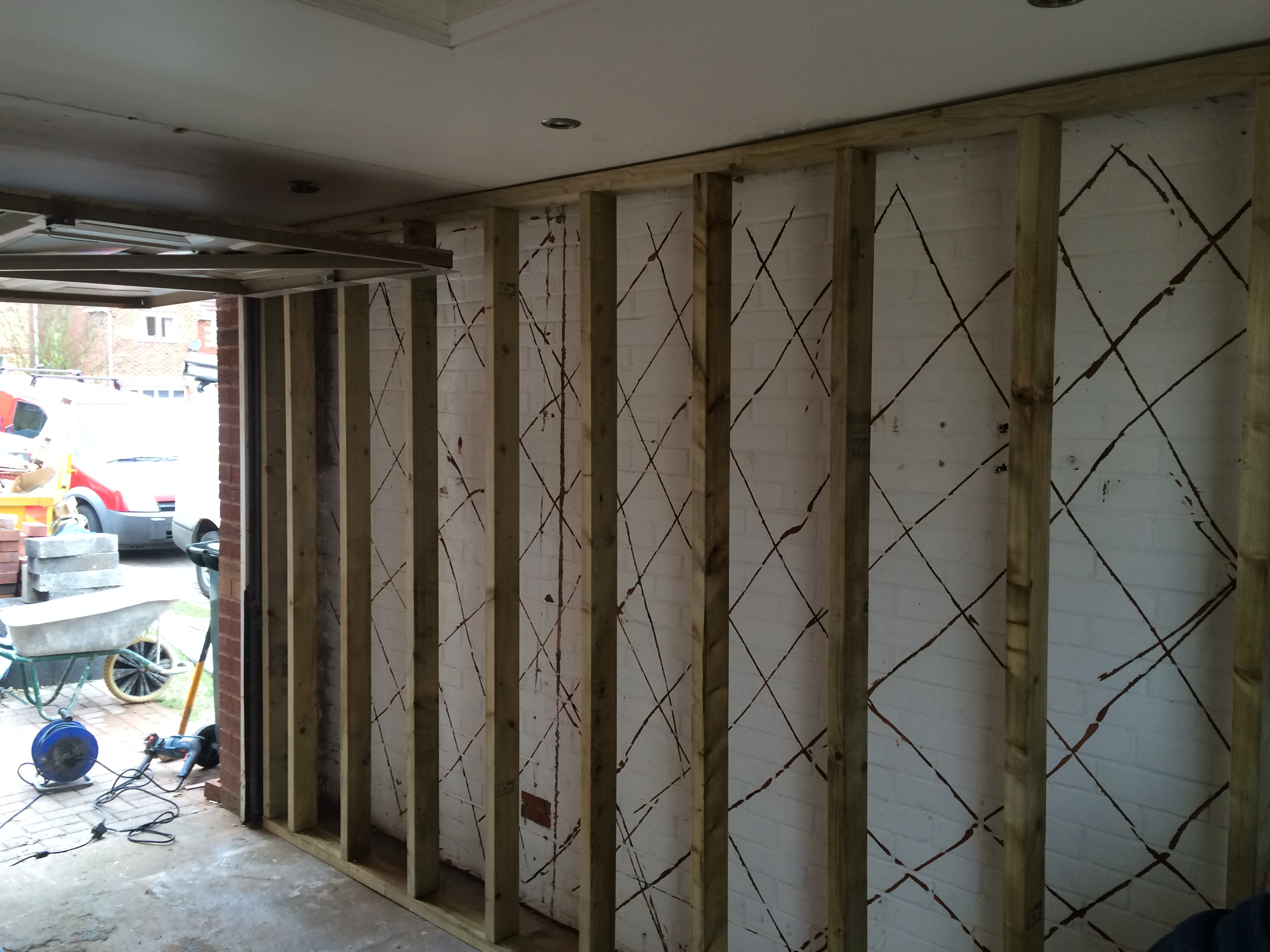 them how sheathing too half insulate insulating plywood and window to garage done walls with