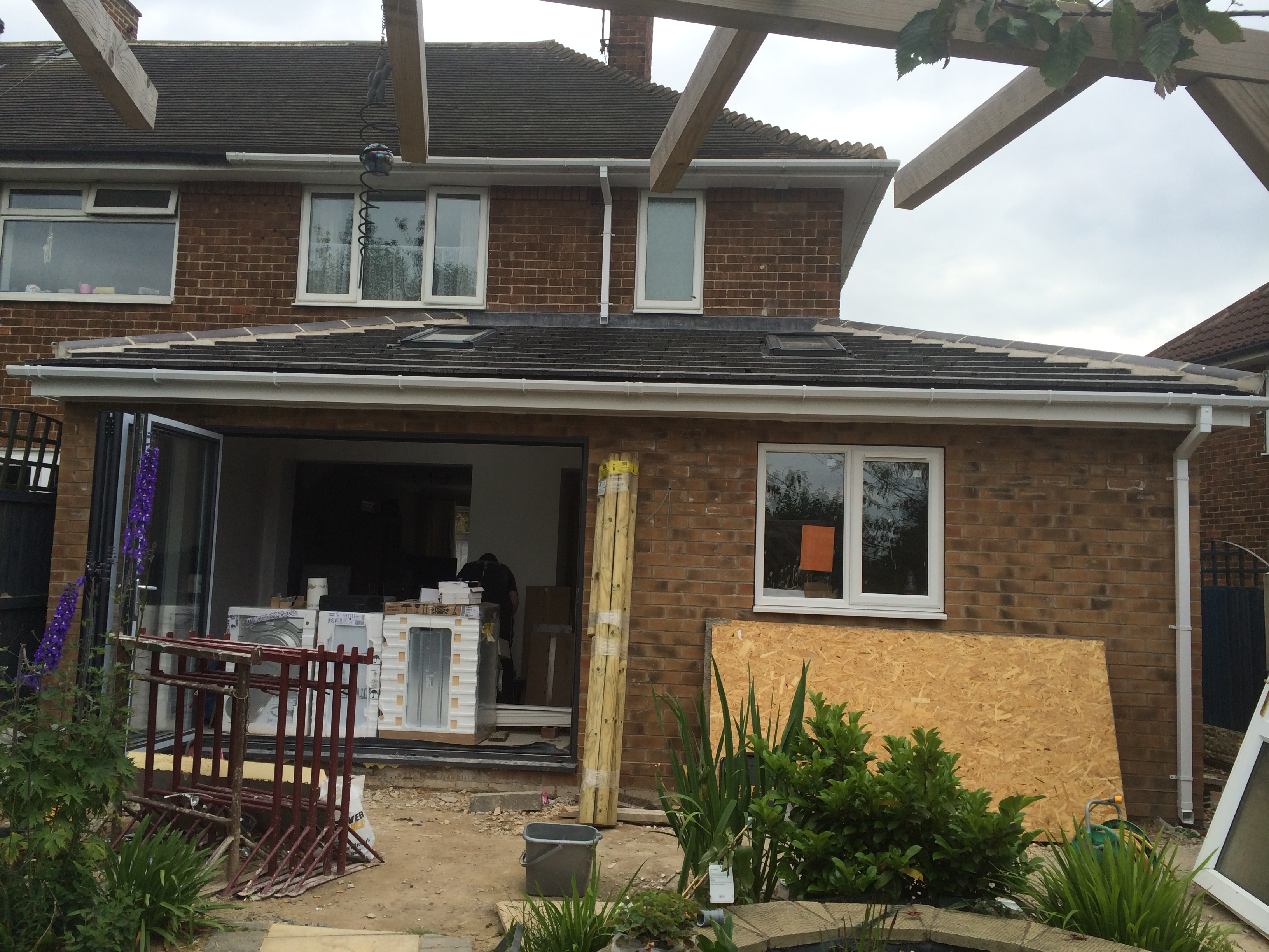 Single storey side and rear wrap round extension and porch for Front porch extension