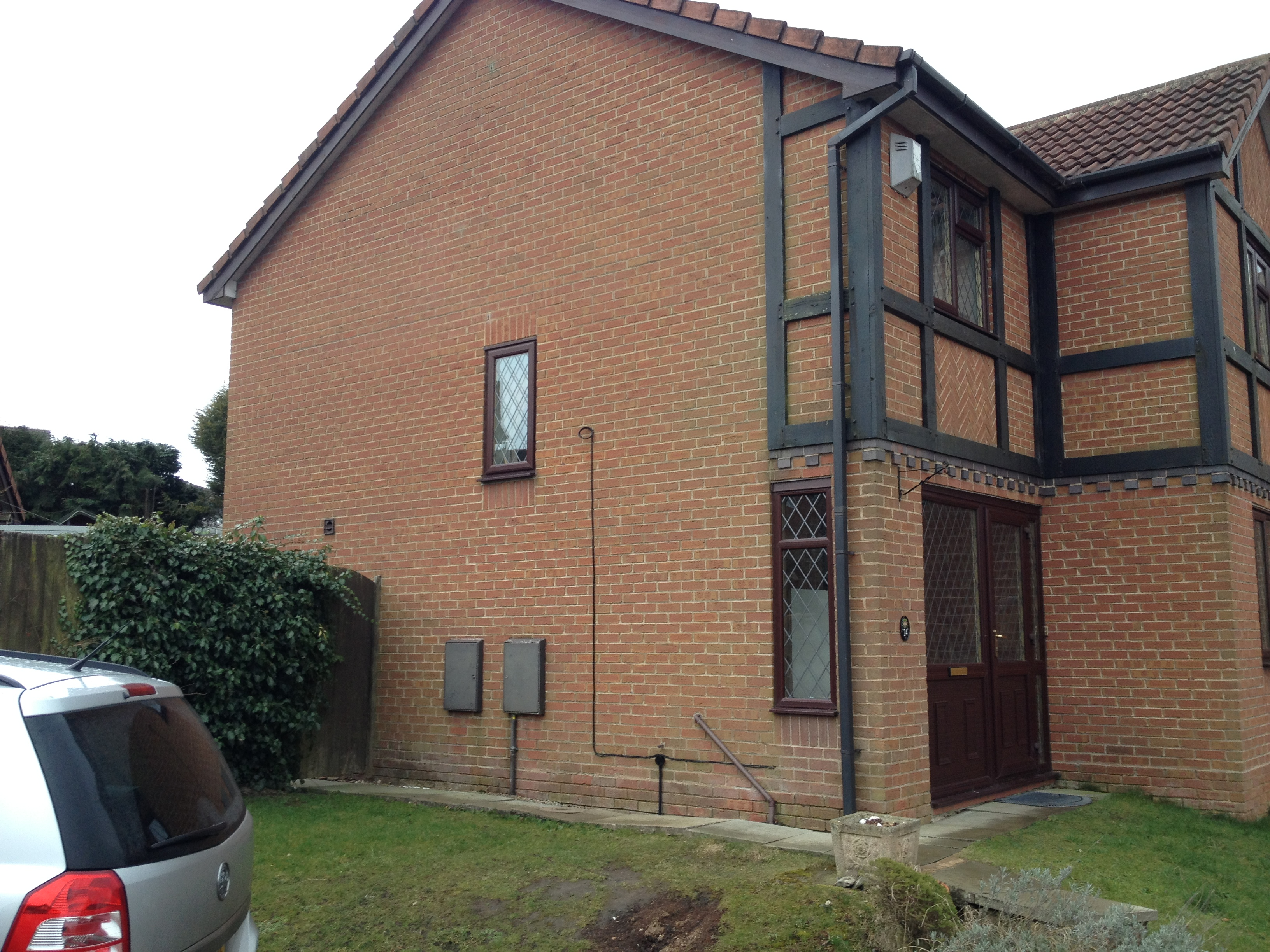 Two storey side single storey front porch extension tingley for Front porch extension